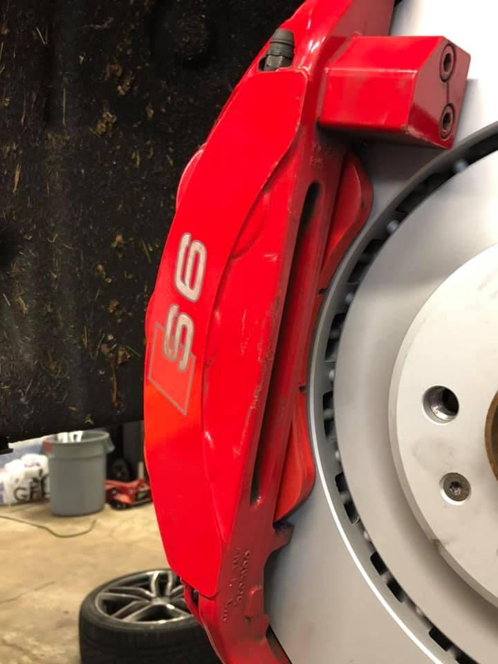 2017 Audi S6 sedan brake replacement at the Garage Burnaby