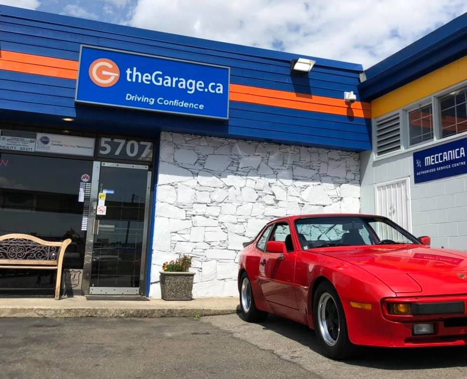 Classic car - 1984 Porsche 944 in for repair